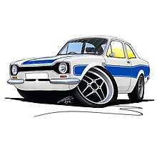 Ford Escort (Mk1) RS2000 White Photographic Print