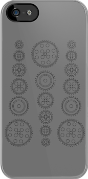Cog Gear Wheels Pattern by Customize My Minifig by ChilleeW