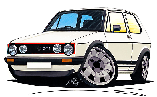 VW Golf (Mk1) GTi White by Richard Yeomans