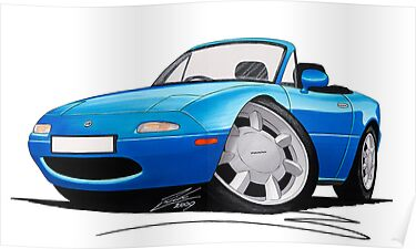 Mazda MX5 (Mk1) Blue by Richard Yeomans