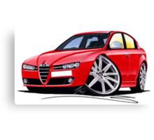 Alfa Romeo 159 Red Canvas Print