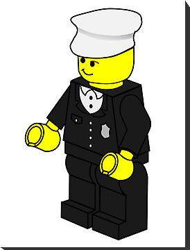 Policeman Minifig by Customize My Minifig by ChilleeW