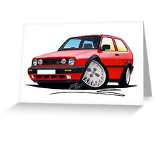 VW Golf GTi (Mk2) Red Greeting Card