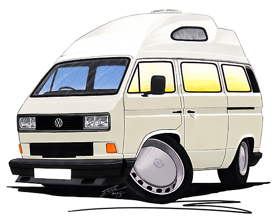 VW T25 / T3 [SQ] (High Top) White by Richard Yeomans