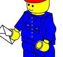 Postman Minifig by Customize My Minifig by ChilleeW