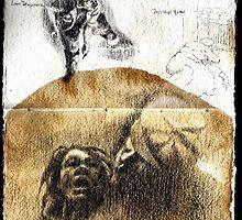 Altered Sketchbook Elizabeth Stride by Cameron Hampton