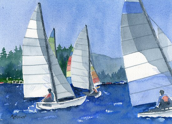 Afternoon Sail by Marsha Elliott