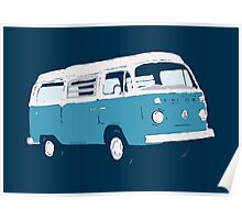 Bay Window Campervan Basic Colours (see description) Poster