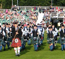 Glasgow Green, World Pipeband Championships by ElsT