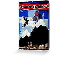 Switzerland Quidditch Greeting Card