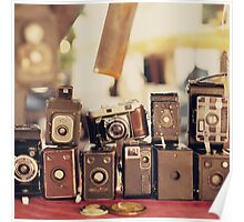Old Cameras (Vintage and Retro Film Cameras Collection) Poster