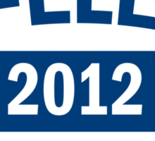 Re-Elect Obama 2012 Shirt Sticker