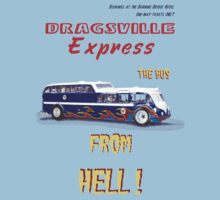 Dragster Bus baby blue by bonchustown