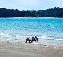 Relaxing in the sun at Sullivans Bay by amypie71