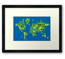 Cartoon Map of Flora and Fauna of the World  Framed Print