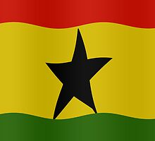 Ghanaian flag by stuwdamdorp