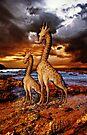 Antique Giraffes iPHONE Case by Pamela Phelps