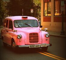 Pink Taxi Cab, Boston by Amanda Vontobel Photography