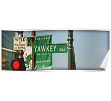 Yawkey Way Street Sign, Fenway Park Poster