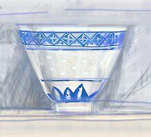 Blue and white cup by Visuddhi