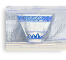Blue and white cup Canvas Print