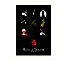Game of Thrones Season One Art Print