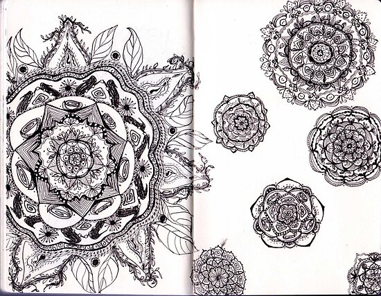 Mandalas in a Sketchbook by asinglenote