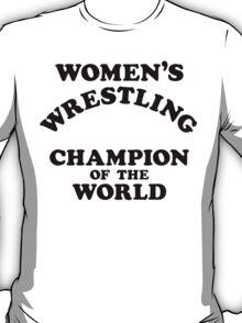Inter-Gender Wrestling Champion of the World (Black) T-Shirt