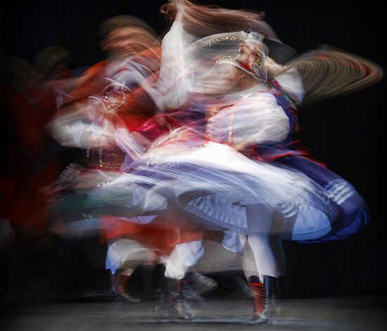 Ethnic Dancers by Peter Kurdulija