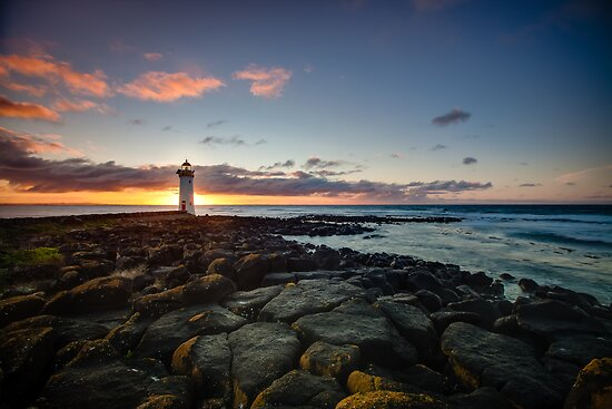 Port Fairy Griffith Island Lighthouse Sunrise by hangingpixels