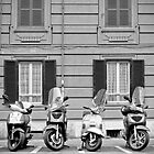 Scooters in ROME, Italy by wildrain
