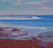 View Across the Cowrie Hole, Newcastle, NSW, Australia by Carole Elliott