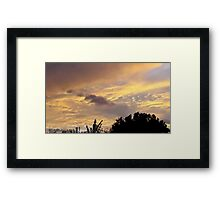 July 2012 Sunset 1 Framed Print