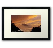July 2012 Sunset 12 Framed Print