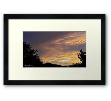 July 2012 Sunset 14 Framed Print