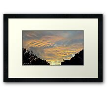 July 2012 Sunset 18 Framed Print