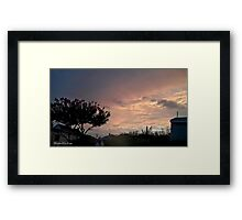 July 2012 Sunset 24 Framed Print