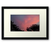 July 2012 Sunset 31 Framed Print
