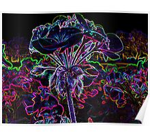 Glowing flower Poster