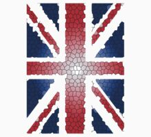 Union Jack Flag UK - Stained Glass effect by TOM HILL - Designer
