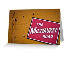 The Milwaukee Road Greeting Card