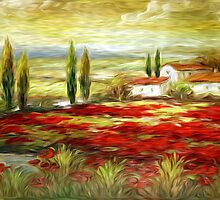 Le Marche Italy Oil Painting by Fred Seghetti