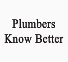 Plumbers Know Better by supernova23