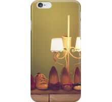 Dancing Shoes and Heels (retro and vintage girly shoes and heels with a lovely lamp) iPhone Case/Skin