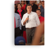 Mitt Romney Abashed Canvas Print