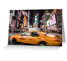 Taxi in times square Greeting Card