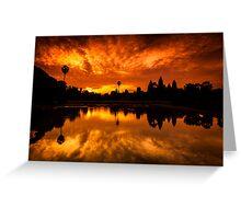 Angkor Wat Sunrise Greeting Card