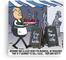 Free range coffee Canvas Print