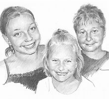 Siblings drawing by Mike Theuer