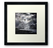 Three Calling Wild Framed Print